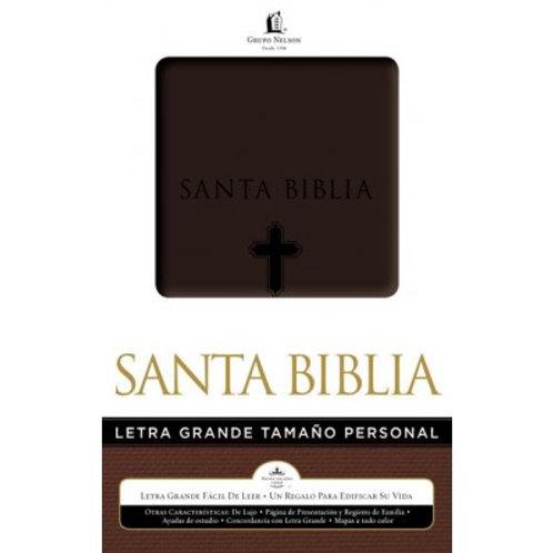 Biblia letra grande tamaño personal Piel italiana RVR 1960