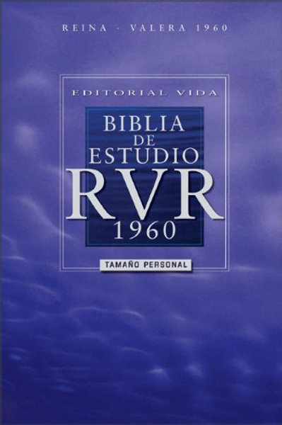 Biblia De Estudio,RVR 1960, Tamaño Manual, Tapa Dura