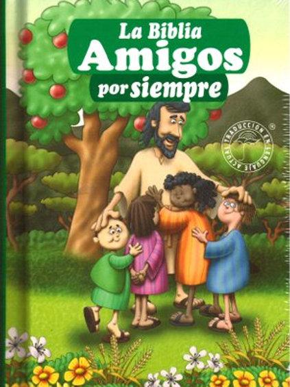 Biblia Amigos Por Siempre Traduccion Lenguaje Actual, Tapa Dura Verde