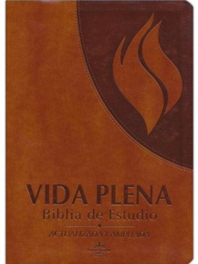 Biblia De Estudio Vida Plena Actualizada RVR 1960, Imitación Piel Café Con Índic