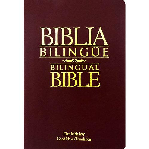 Biblia bilingüe Dios Habla Hoy imitación piel rojo