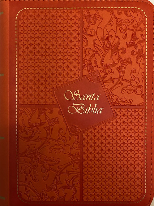 Biblia Tamaño Bolsillo RVR 1960, Imitación Piel Naranja
