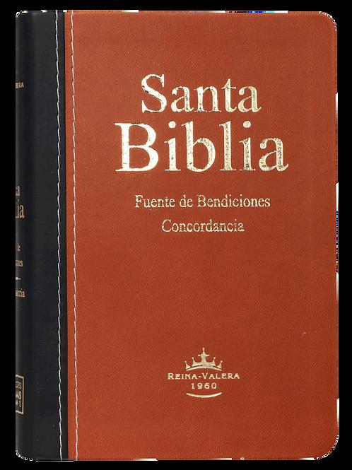 Biblia Compacta Fuente De Bendiciones RVR 1960, Imitación Piel Marrón