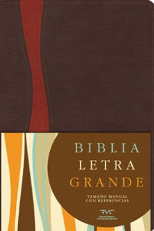 Biblia letra grande tamaño manual,símil piel con índice RVC