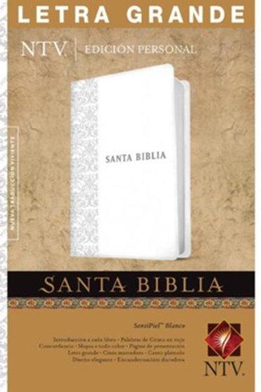 Biblia Edición Personal NTV, Letra Grande SentiPiel Blanco