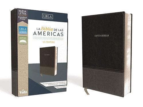 Biblia de las Americas Ultrafina, Imitación Piel Negro