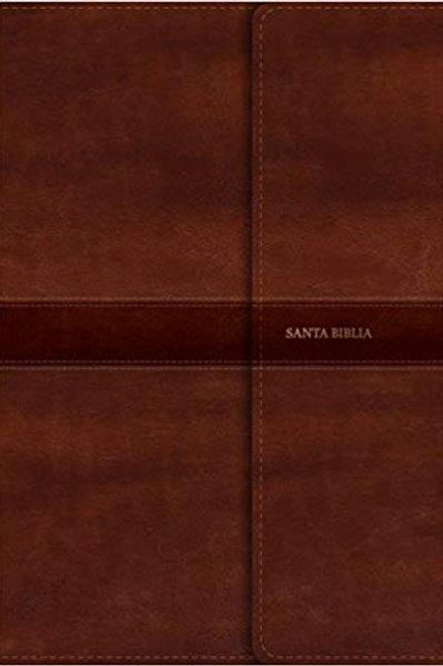Biblia letra súper gigante, RVR 1960, Símil Piel Marrón y solapa con imán