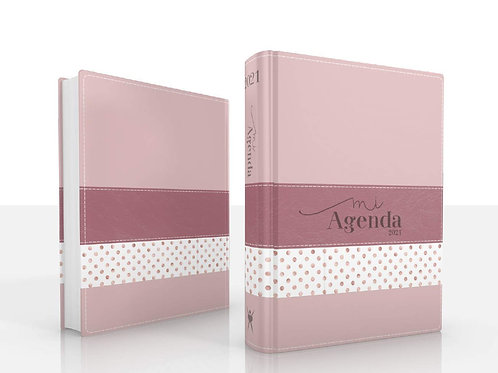 Agenda Deluxe 2021 Mod.4 - Rosa Puntos