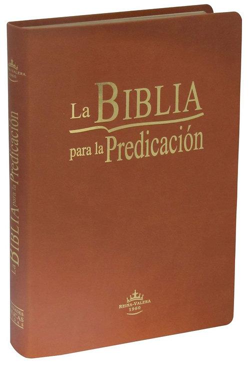Biblia para la predicación RVR 1960, Imitación Piel Marrón