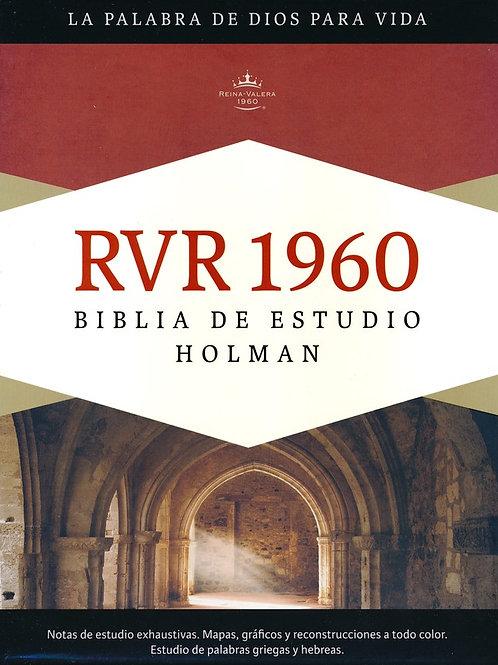 Biblia De Estudio Holman RVR 1960, Símil Piel Rosa Con Índice