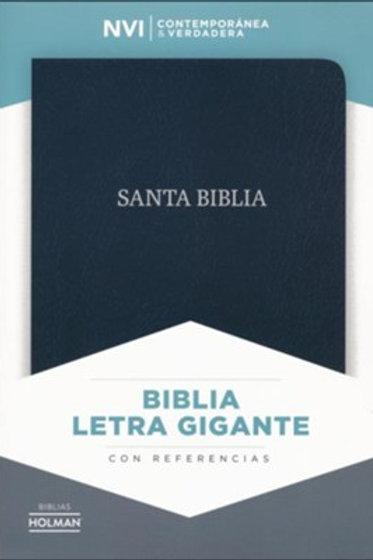 Biblia Letra Gigante NVI, Piel Fabricada Negro Con Índice