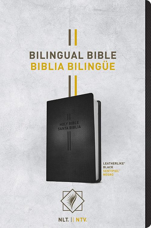 Biblia Bilingüe NLT / NTV, Imitación Piel Negro