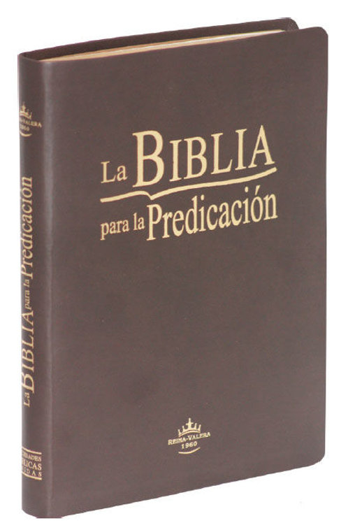 Biblia Para La Predicación RVR 1960, Piel Café