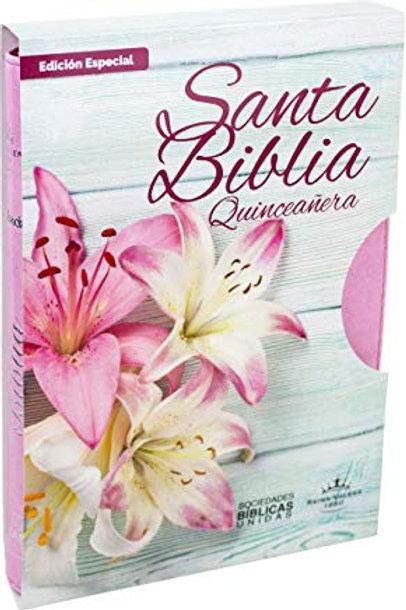 Biblia edición especial para Quinceañera imitación piel Rosa RVR 1960