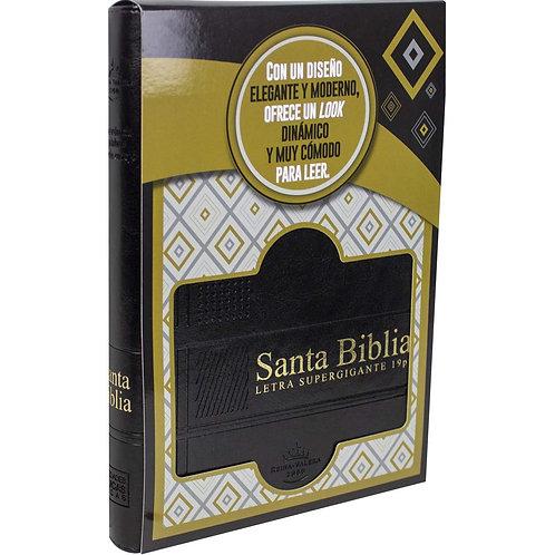 Biblia Letra Súper Gigante RVR 1960, Piel Negro Con Índice y Zíper