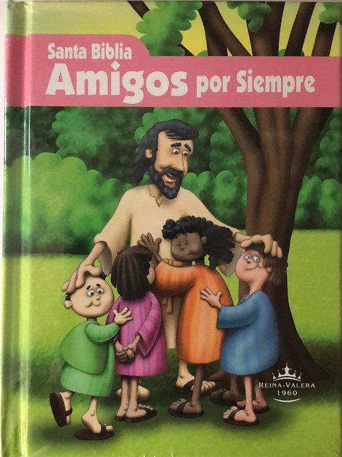 Biblia Amigos por siempre, Tapa dura Rosa Reina Valera 1960