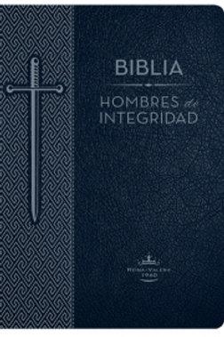 Biblia hombres de integridad, imitación piel azul, RVR 1960
