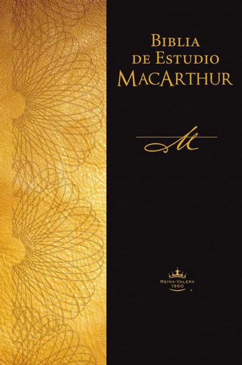 Biblia De Estudio MacArthur, RVR 1960, Tapa Dura Con Índice