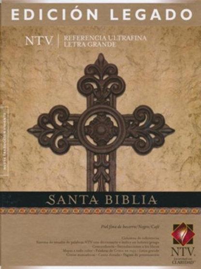 Biblia Ultrafina NTV Letra Grande, Edición Legado, Piel De Becerro Negro