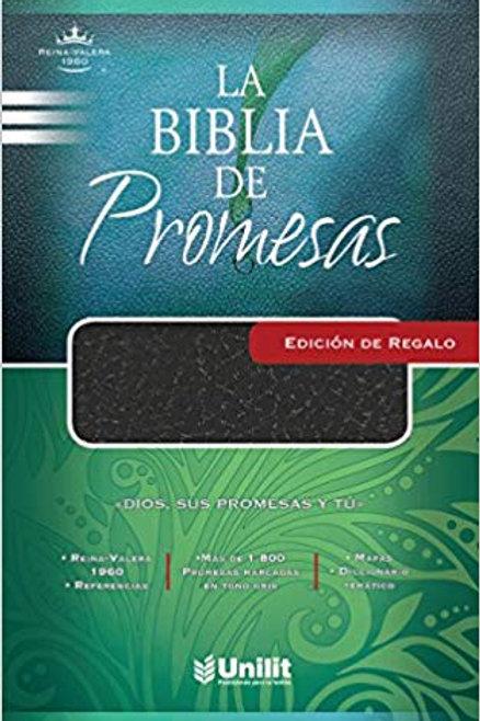 Biblia De Promesas Edición Regalo RVR 1960, Imitación Piel Negro