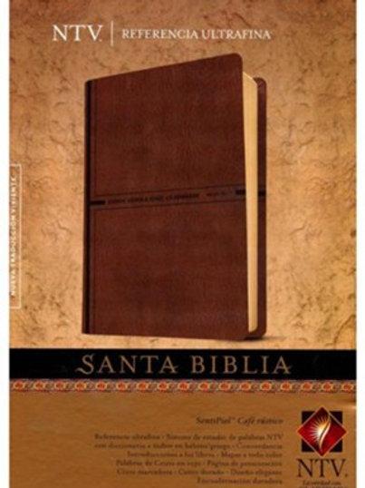 Biblia NTV, Referencia Ultrafina, SentiPiel Café Rústico
