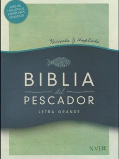 Biblia del Pescador NVI, letra grande, Símil Piel Caoba