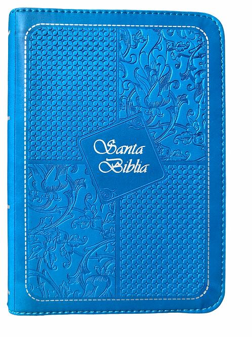 Biblia Tamaño Bolsillo RVR 1960, Imitación Piel Azul