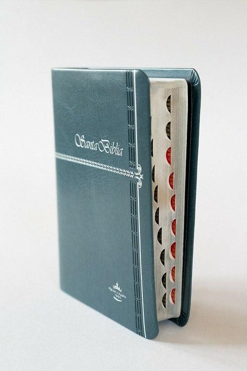 Biblia compacta con índice imitación Piel gris RVR 1960