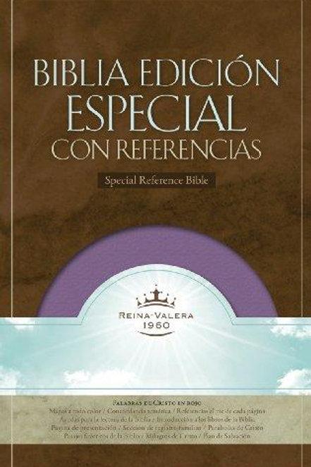 Biblia edición especial con referencias imitación piel morado RVR 1960