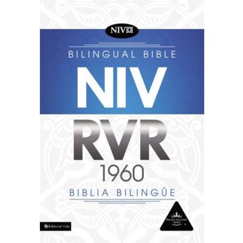 Biblia Bilingüe RVR 1960/NIV, Imitación Piel Negro