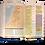 Thumbnail: Biblia De Estudio Arco Iris NTV, Símil Piel Acuarela Sobre Frambuesa Con Índice