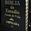 Thumbnail: Biblia de estudio Ampliada piel negro con índice RVR 1960