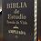 Thumbnail: Biblia de estudio Ampliada piel marrón con índice RVR 1960
