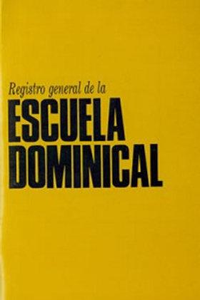 Escuela dominical - Registro general