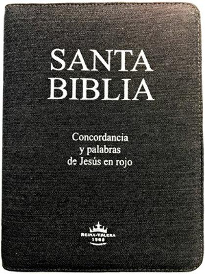 Biblia Letra Grande RVR 1960, Blue Jean, Zíper e Índice