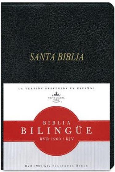 Biblia Bilingüe RVR 1960/KJV, Imitación Piel Negro con índice
