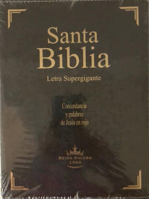 Biblia letra súper gigante piel con índice RVR 1960