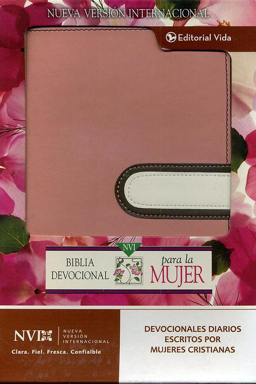 Biblia Devocional Para La Mujer NVI, Piel Italiana Rosado