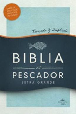 Biblia Del Pescador, Letra Grande RVR 1960, Símil Piel Azul