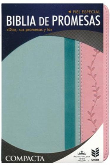 Biblia De Promesas Compacta RVR 1960, Piel Especial Vintage