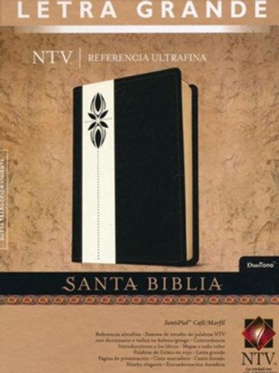 Biblia NTV, Ultrafina, Letra Grande, Imitación Piel Café / Marfil