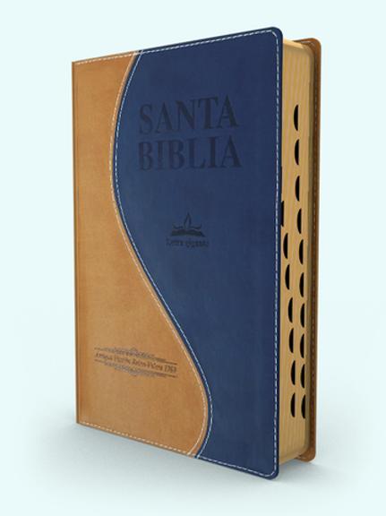 Biblia Letra Gigante RVR 1909, Piel Italiana Con Índice