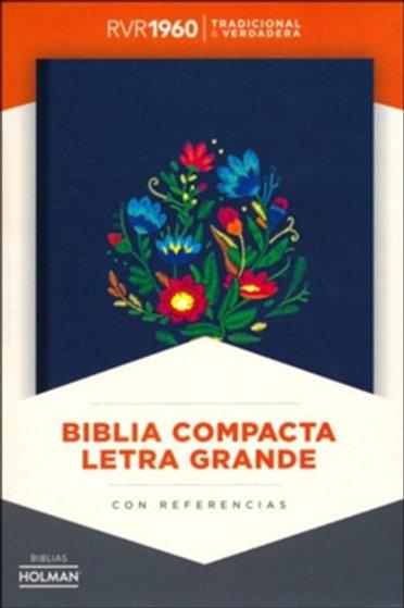 Biblia Compacta RVR 1960, Bordado Sobre Tela