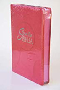 Biblia letra grande tamaño manual Fuscia RVR 1960