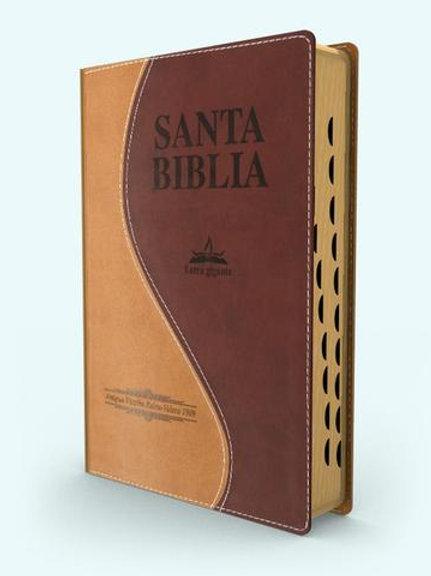Biblia letra gigante piel italiana con índice Antigua Versión 1909