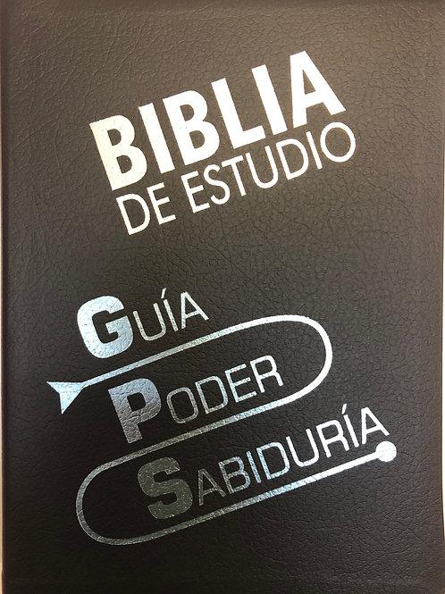 Biblia de estudio GPS imitación piel Azul TLA