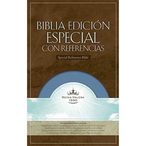 Biblia edición especial con referencias símil piel azul RVR 1960