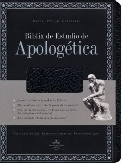 Biblia de Estudio de Apologética, RVR 1960, Imitación Piel Negro