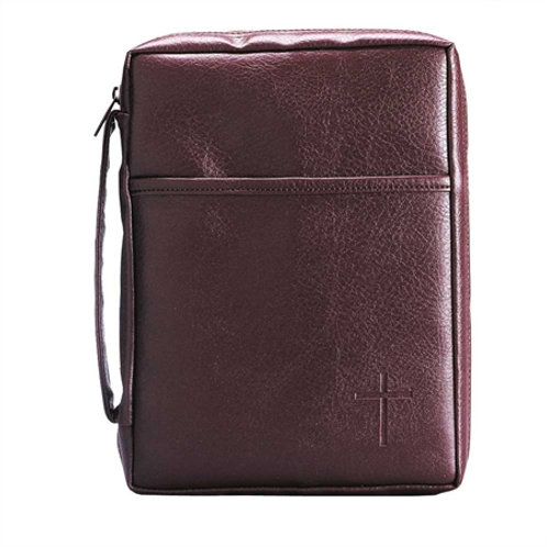 Bible Cover XL Handle/Pocket Burgundy