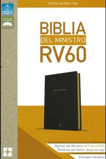 Biblia Del Ministro RVR 1960, Imitación Piel Negro